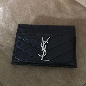 Authentic YSL Black Cardholder
